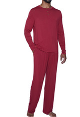 Cashmere (Yes!) Lounge Pant - Burgundy - LUXE