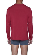 Cashmere (Yes!) - Long Sleeve Henley - Burgundy - LUXE