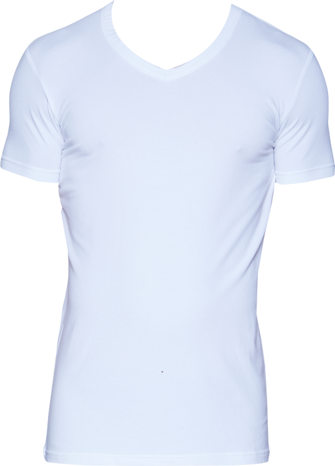 Wood V-Neck - White