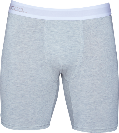 Biker Brief - Heather Grey