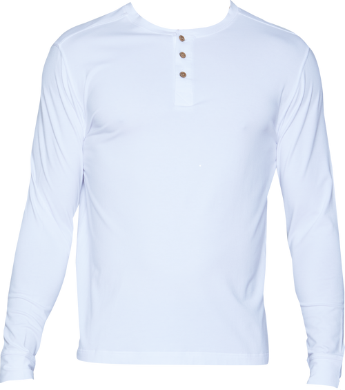 Henley - Long Sleeve - White