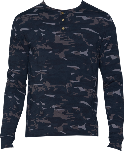 Henley - Long Sleeve - Forest Camo