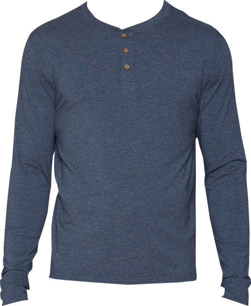 Henley - Long Sleeve - Charcoal Heather