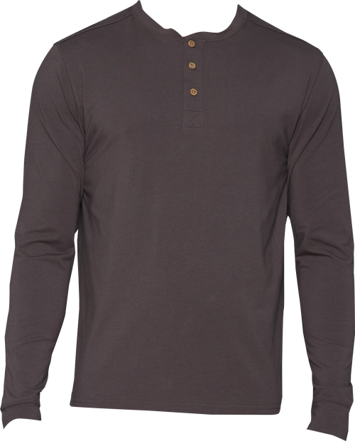 Henley - Long Sleeve - Walnut