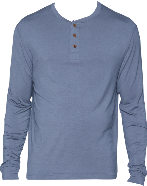Cashmere (Yes!) - Long Sleeve Henley - Pewter - LUXE