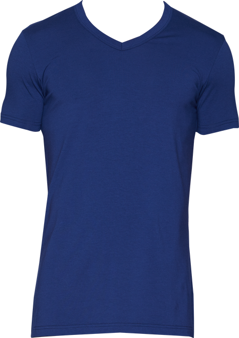 Wood V-Neck - Deep Space Blue