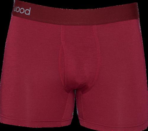 Cashmere (Yes!) Underwear - Boxer Brief - Burgundy - LUXE