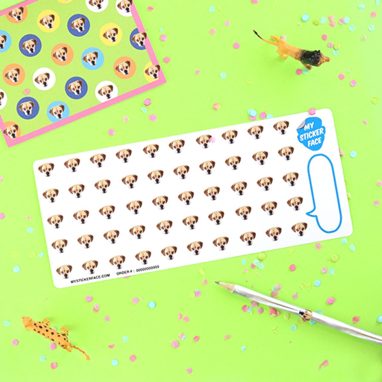 """0.5"""" Face Sticker Sheet - 3 Pack"""