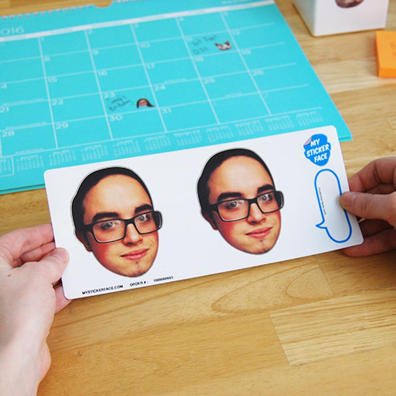 """3.5"""" Face Sticker Sheet - 5 Pack"""