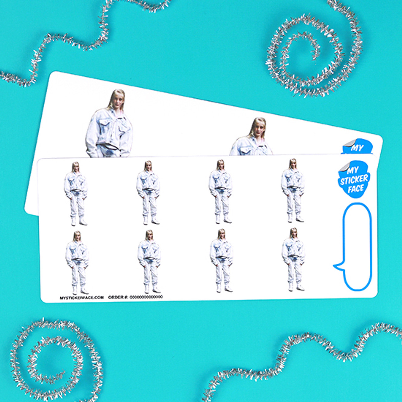 """1.75"""" Full Body Sticker Sheet - 5 Pack"""