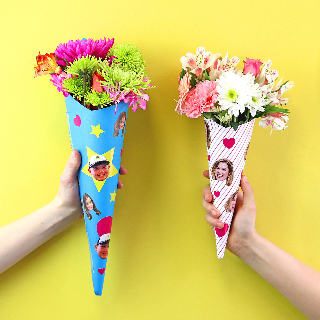 DIY Printable Bouquet Wrap
