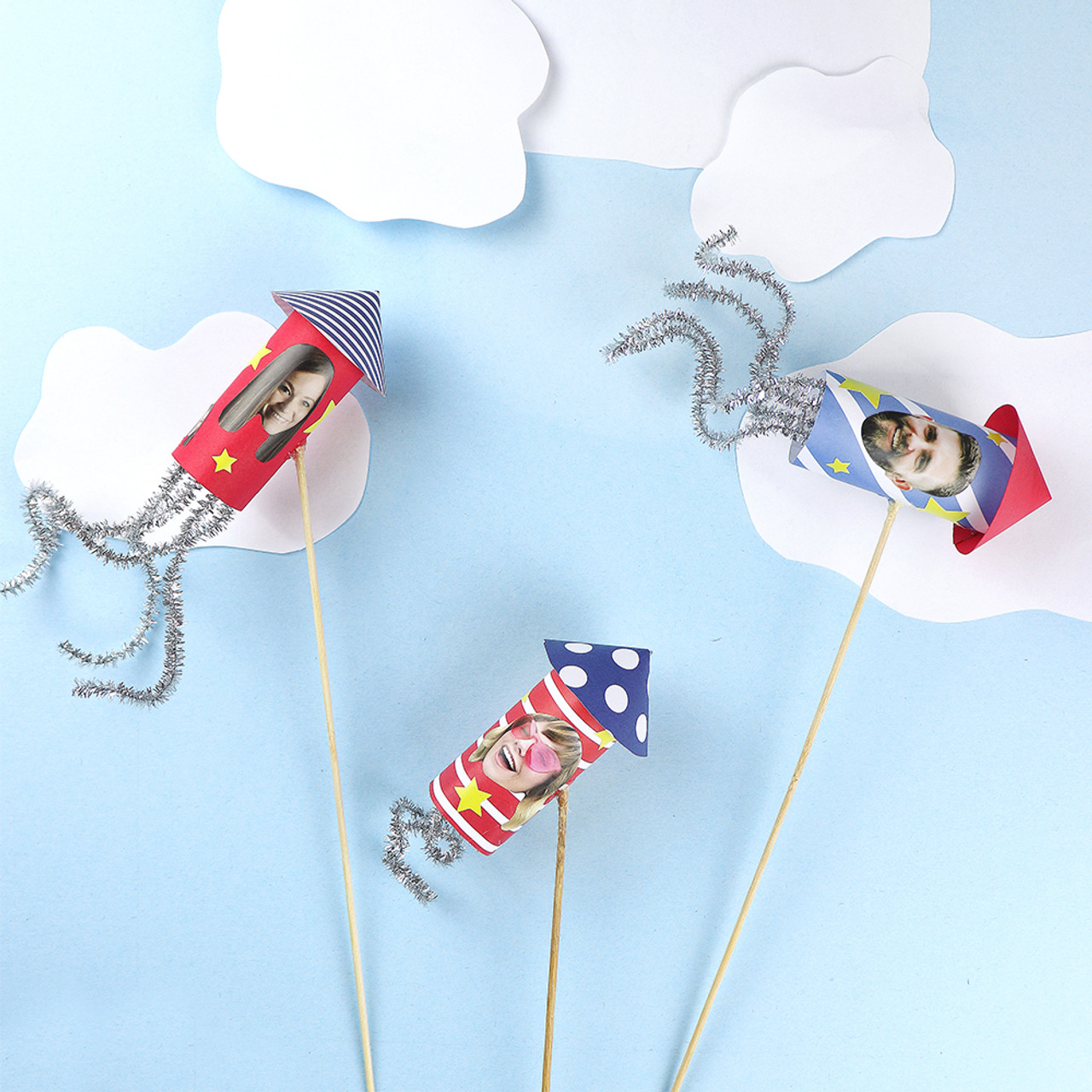 DIY Firecracker Decorations