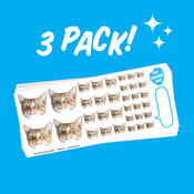 Elite Sampler Face Sticker Sheet - 3 Pack