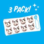 """1.75"""" Face Sticker Sheet - 3 Pack"""