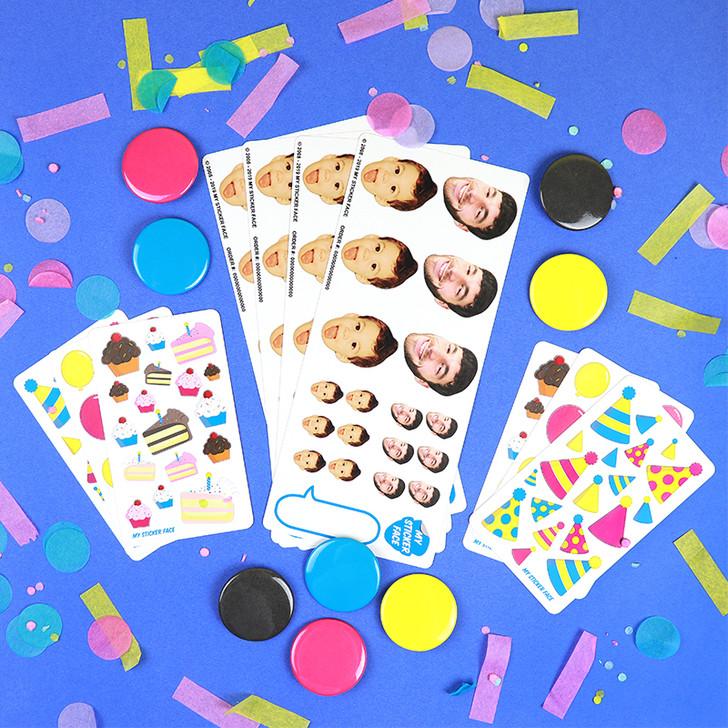 Face Sticker Birthday Party Bundle