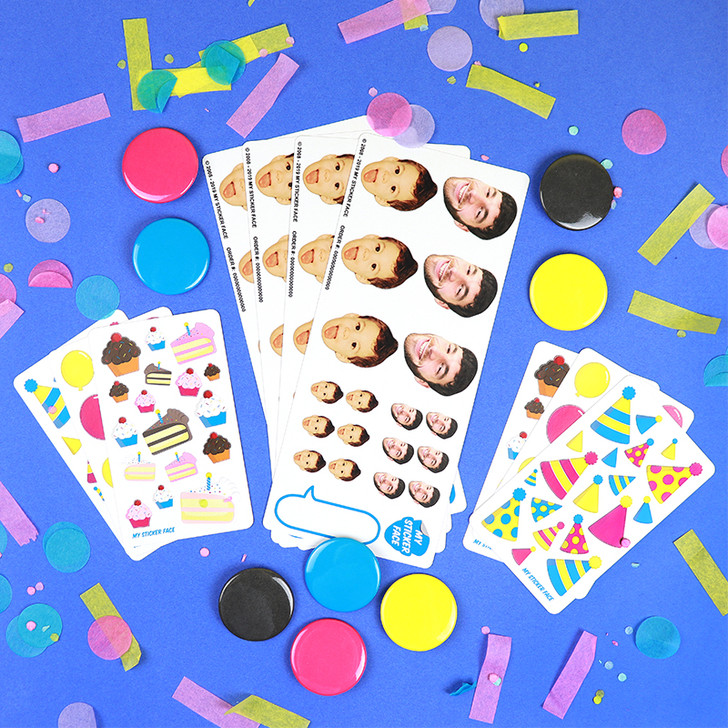 Face Sticker Birthday Party Bundle
