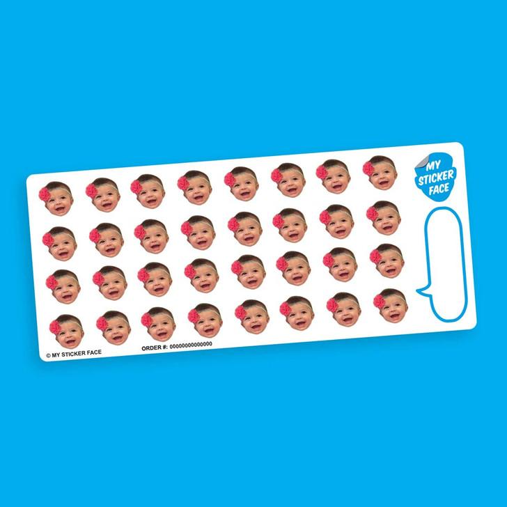 """0.75"""" Face Sticker Sheet"""