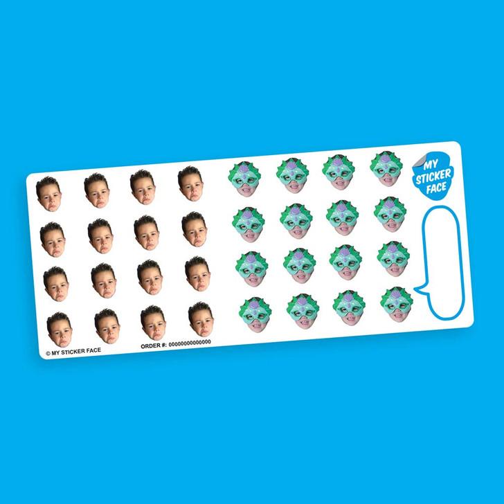 "Duo 0.75"" Face Sticker Sheet"