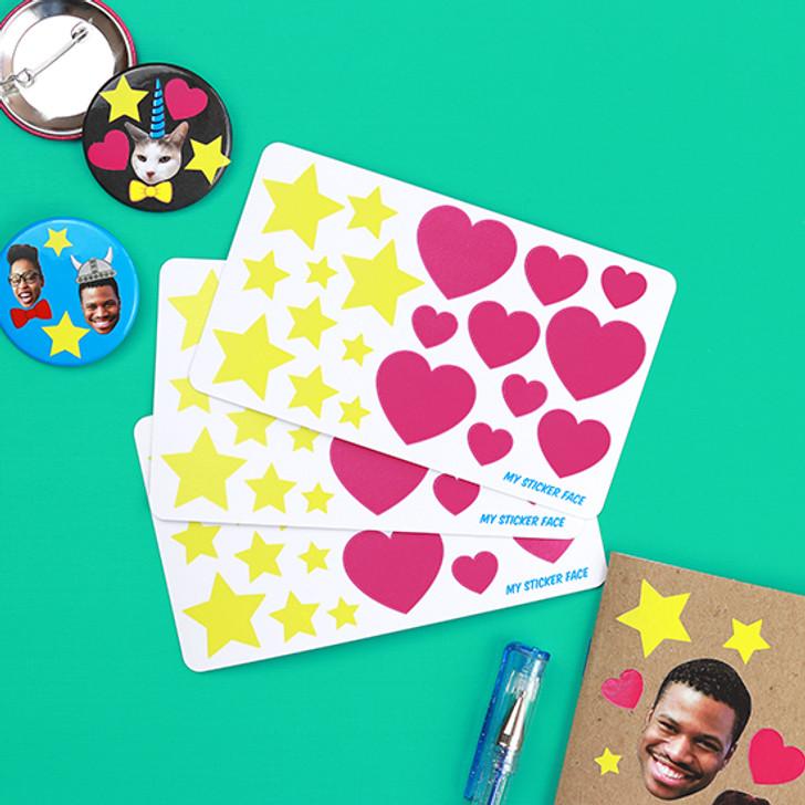 Hearts & Stars Sticker Pack
