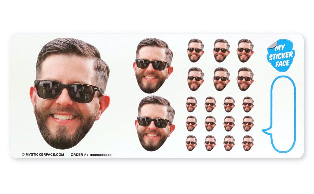 Custom Face Sticker Sheets