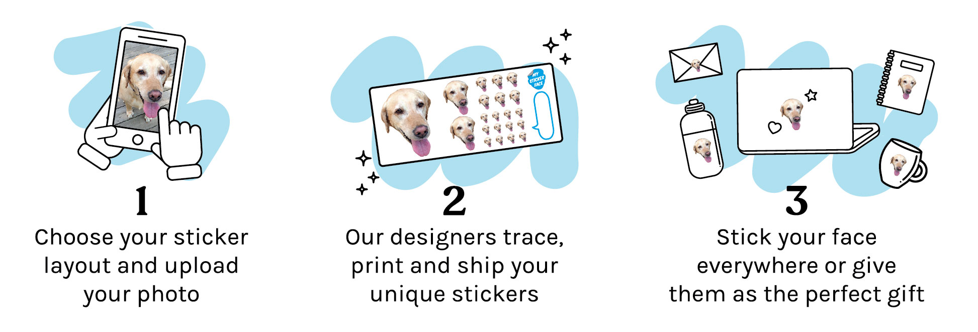 Custom face stickers how to