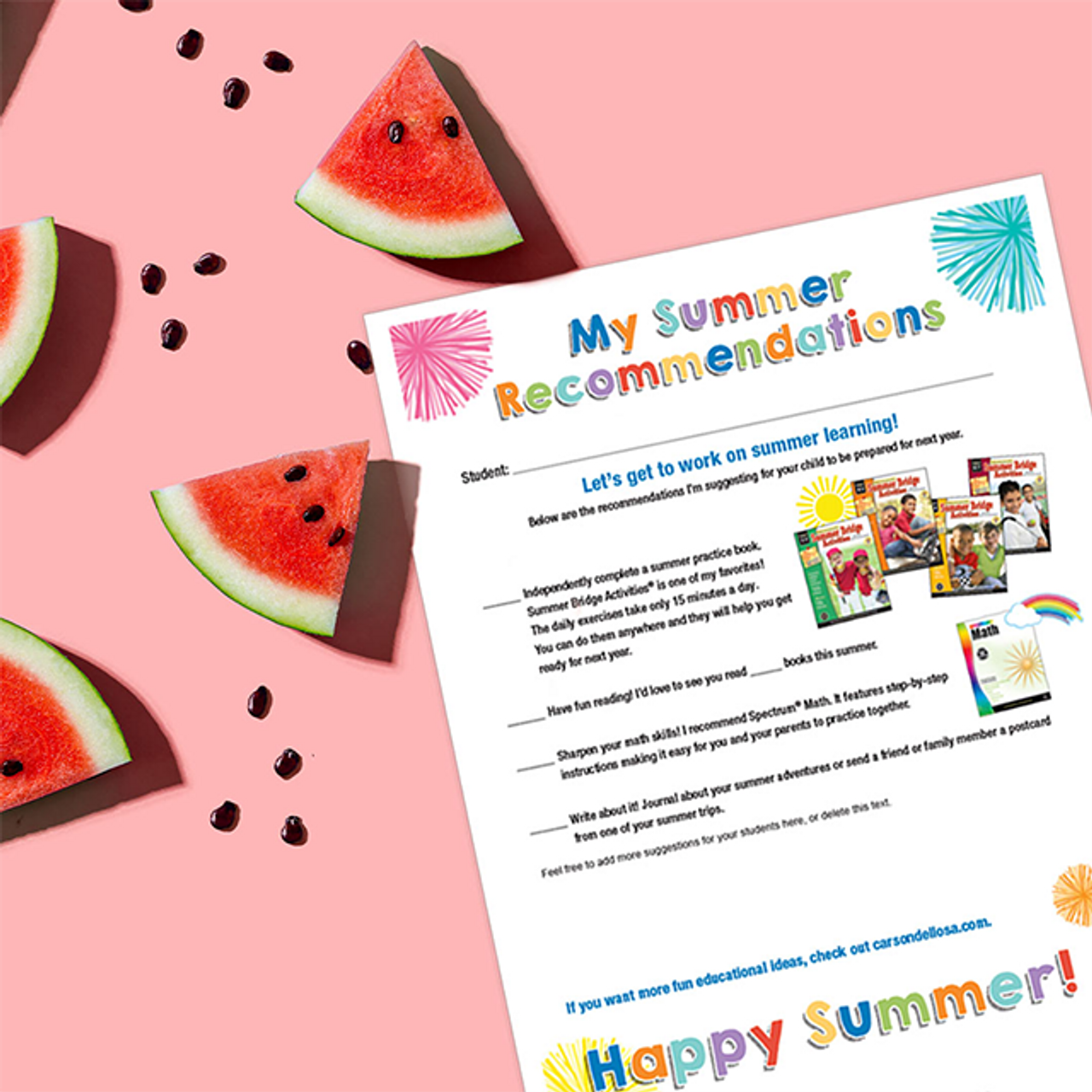 Summer Learning Printables