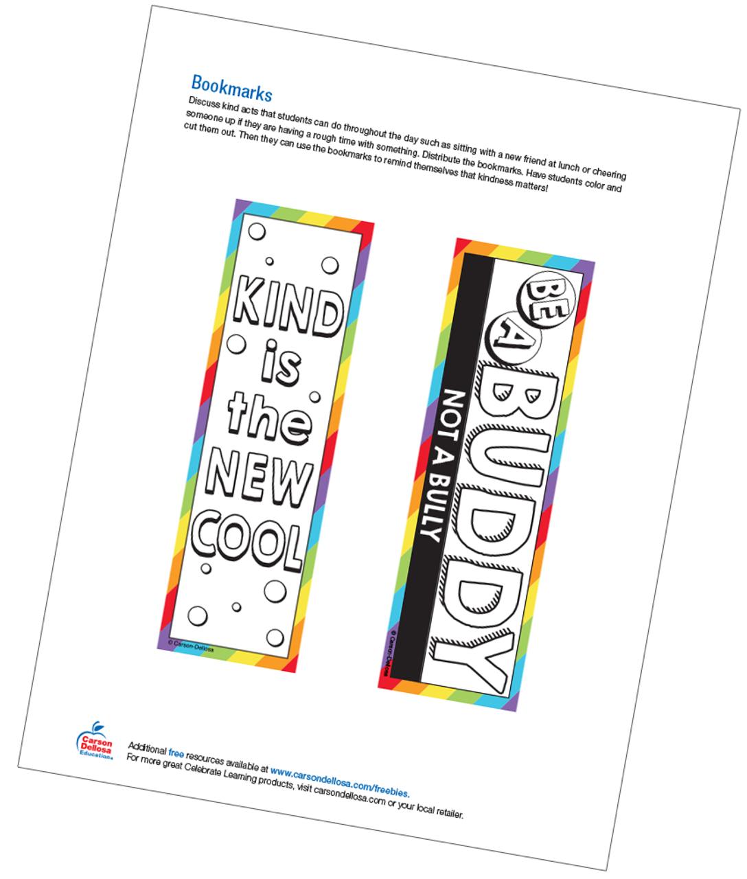 photo regarding Bookmarks Printable referred to as Bookmarks No cost Printable - Carson Dellosa Training
