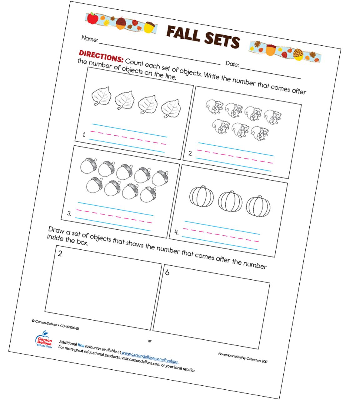 Fall Sets Free Printable | Carson Dellosa