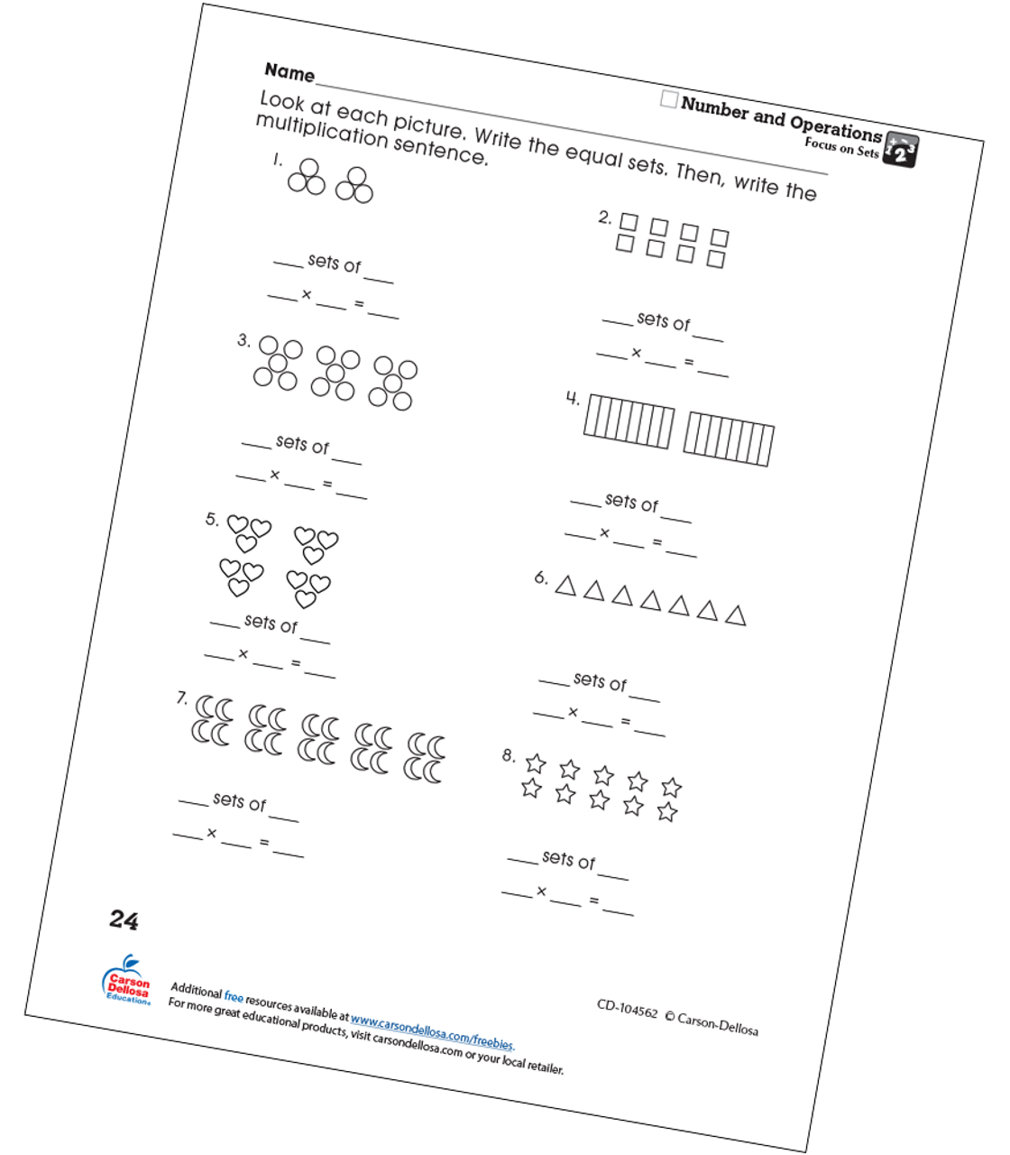 picture relating to Printable Sets referred to as Notice upon Sets Absolutely free Printable Carson Dellosa