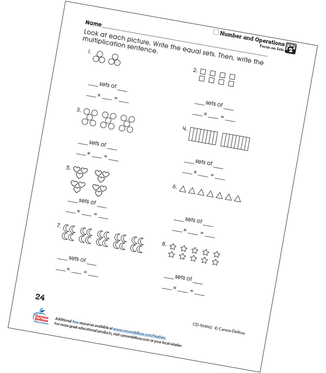 photo regarding Printable Sets called Awareness upon Sets Absolutely free Printable Carson Dellosa