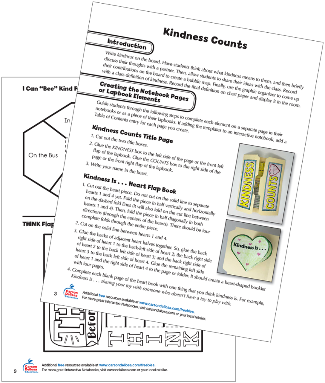 picture about Printable Notebooks referred to as Kindness Counts: Interactive Notebooks Lapbooks No cost