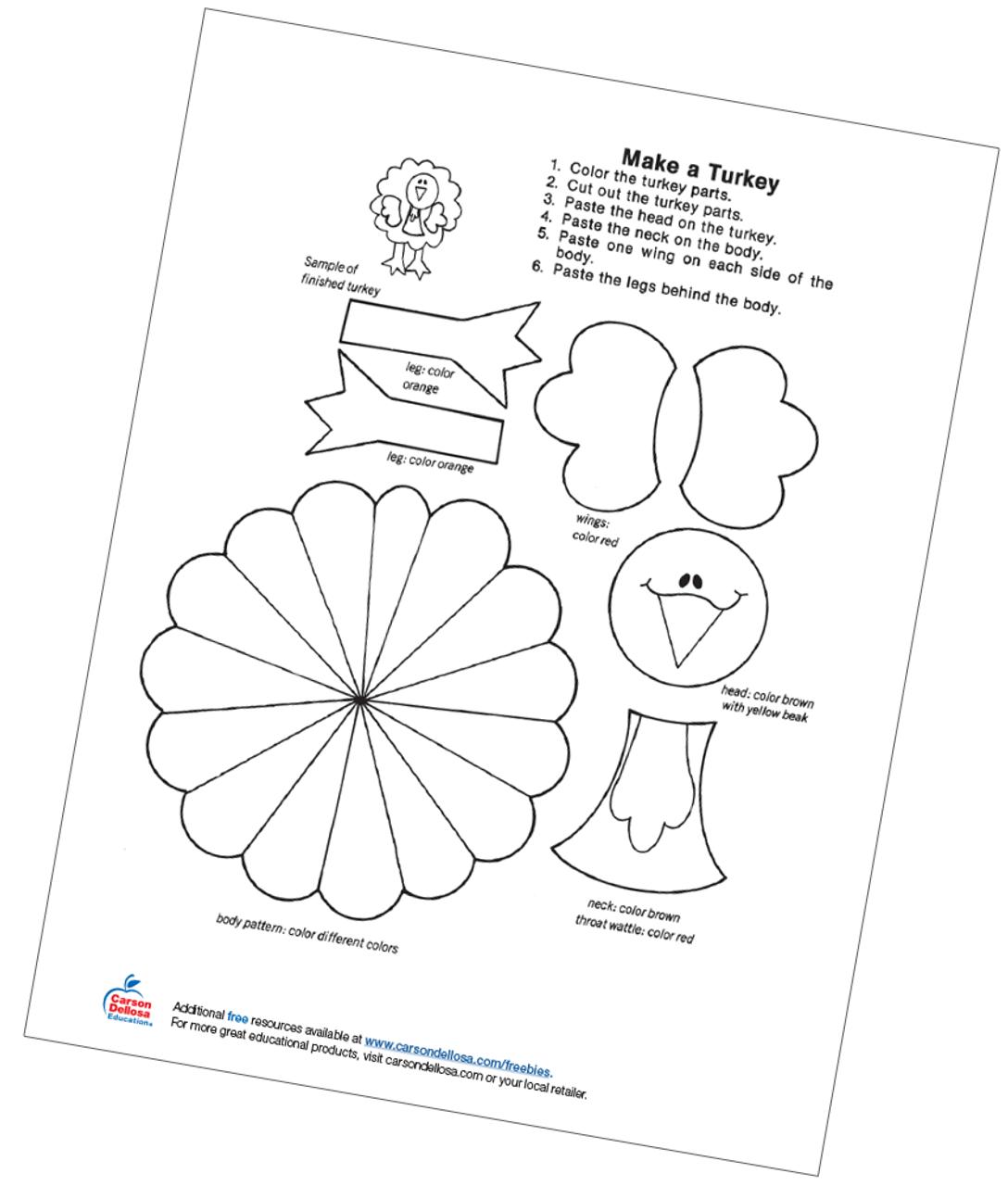 Make A Turkey Free Printable | Carson Dellosa