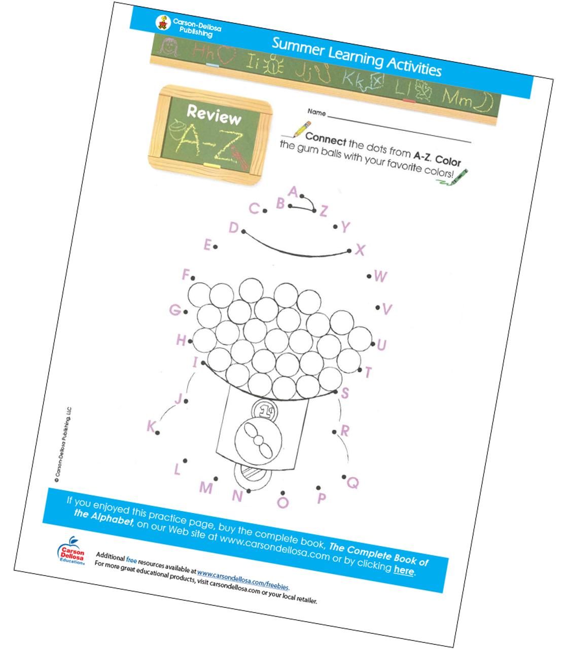 Review A-Z Free Printable | Carson Dellosa