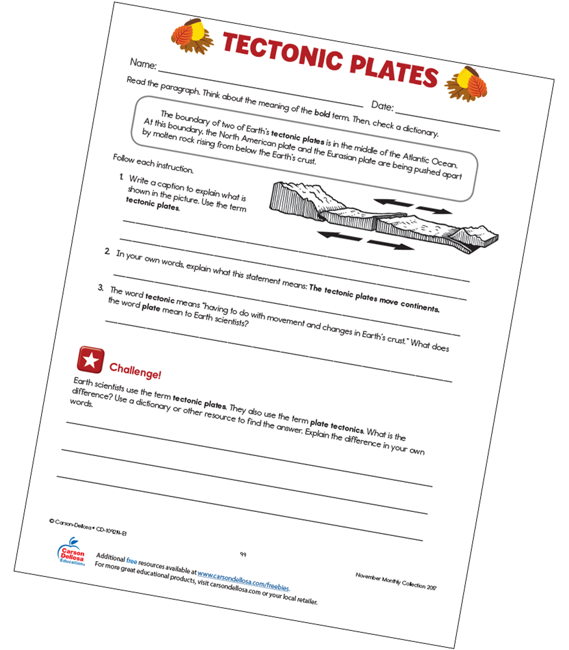 photograph relating to Printable Plates known as Tectonic Plates Free of charge Printable Carson Dellosa
