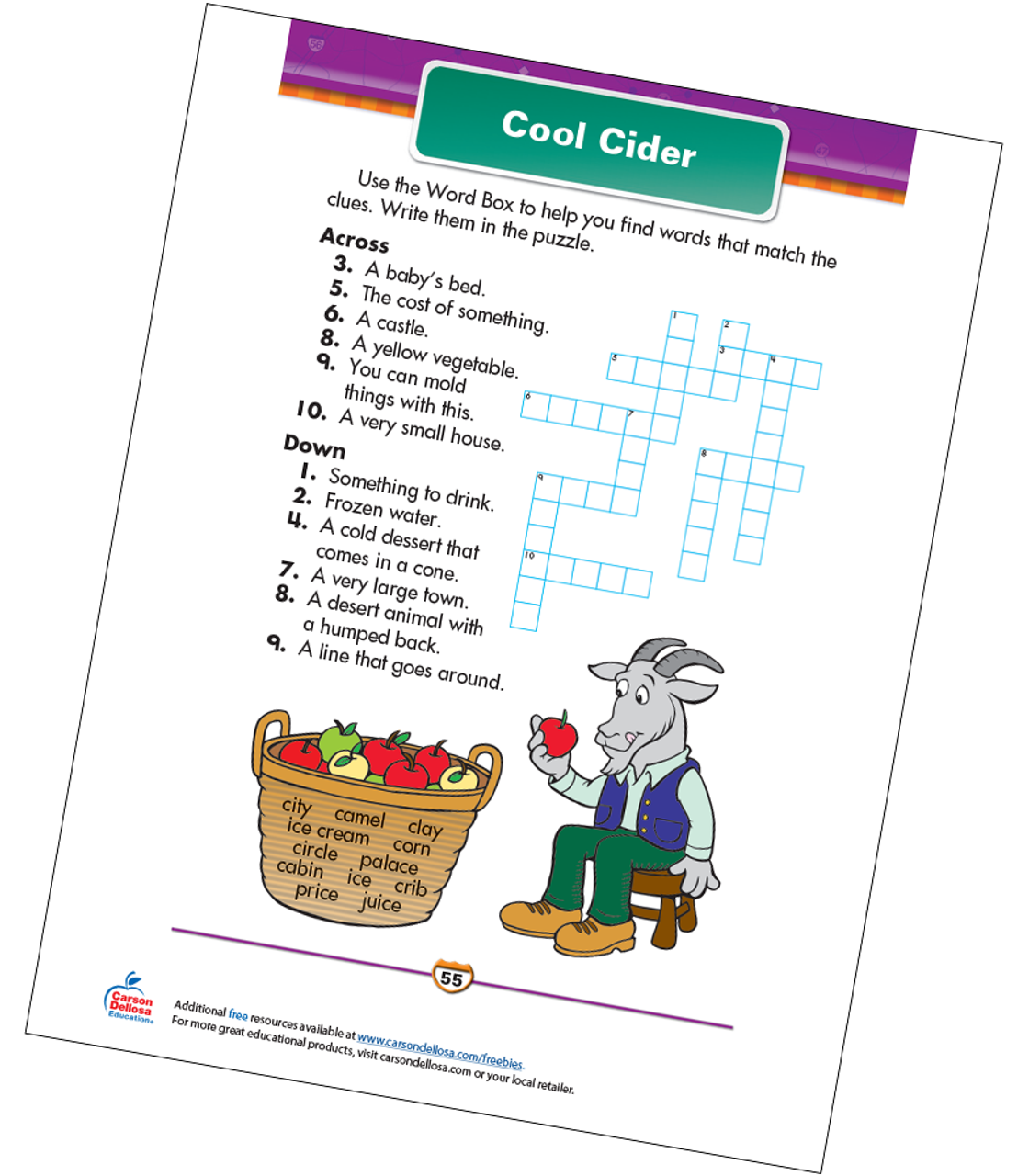 picture regarding Cool Printables called Great Cider No cost Printable Carson Dellosa