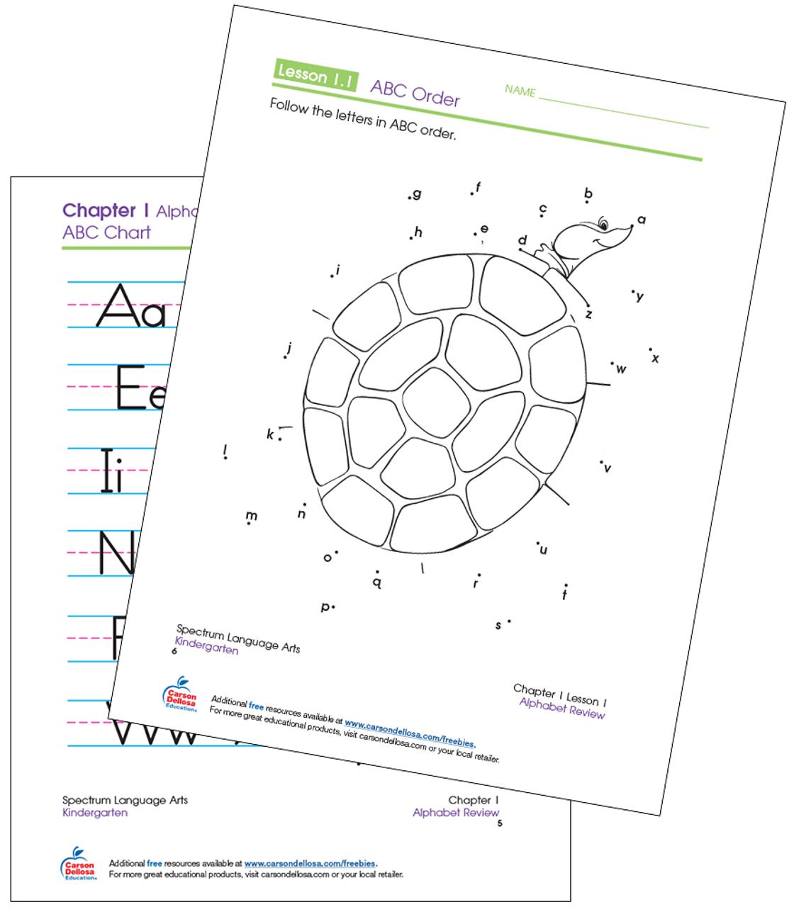 Abc Connect The Dots Kindergarten Free Printable Carson Dellosa