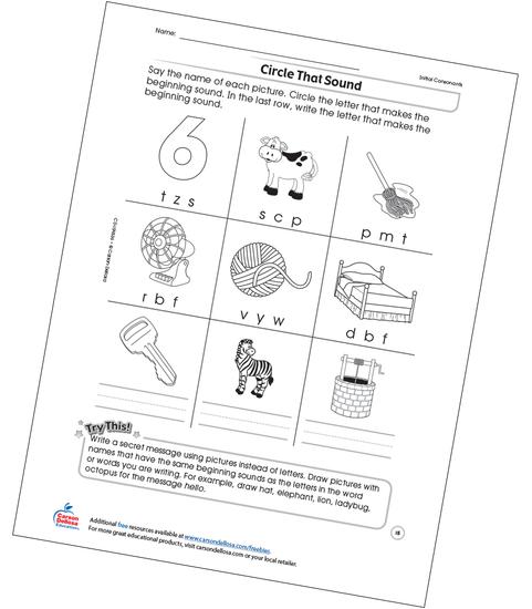 Circle That Sound Free Printable Sample Image