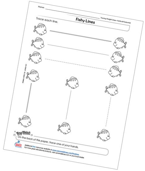 Fishy Lines Free Printable