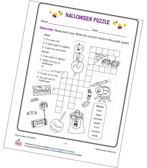 Halloween Puzzle Free Printable