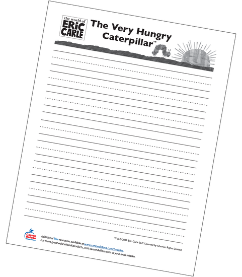 The Very Hungry Caterpillar Handwriting Worksheet Free Printable