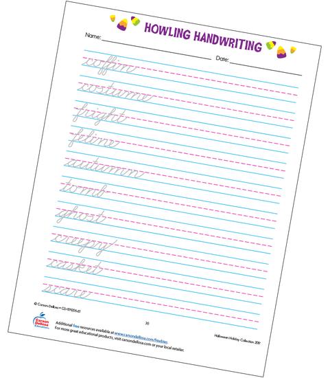 Howling Handwriting Grade 3 Free Printable