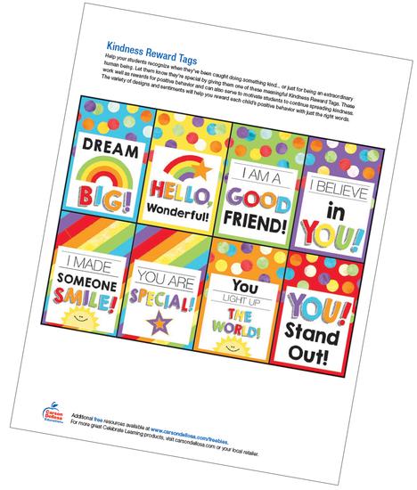 Kindness Reward Tags Free Printable