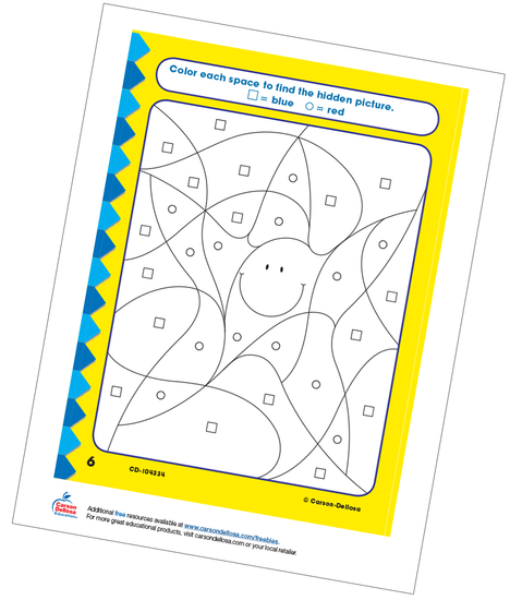 Star Hidden Picture Free Printable