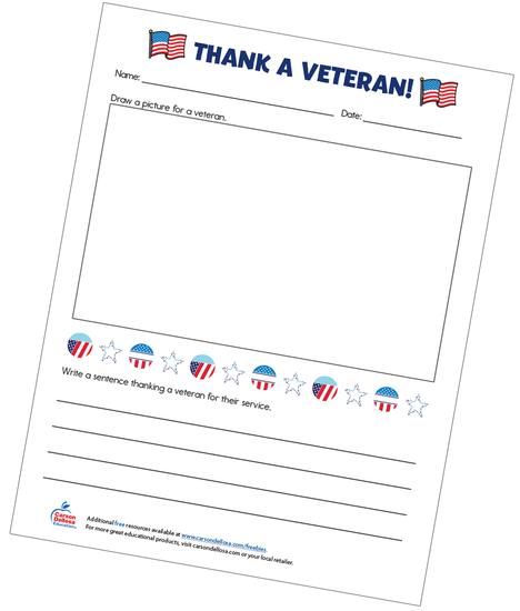 Thank A Veteran! Free Printable