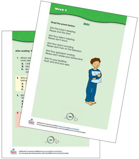 Week 5 Grades K-1 Free Printable Sample Image