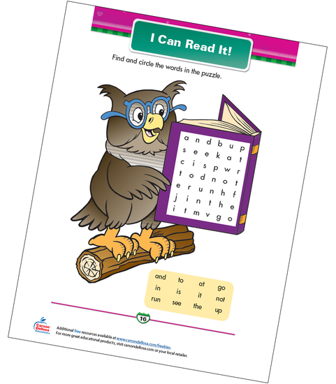 I Can Read It! Free Printable Sample Image