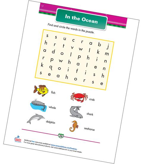In the Ocean Free Printable Sample Image