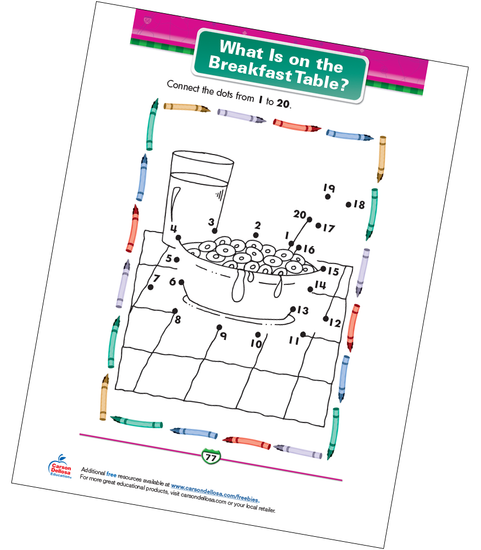 What Is on the Breakfast Table? Free Printable Sample Image