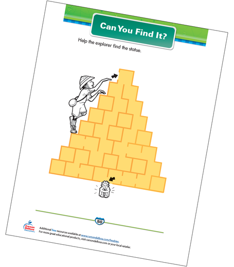 Can You Find It? Free Printable Sample Image