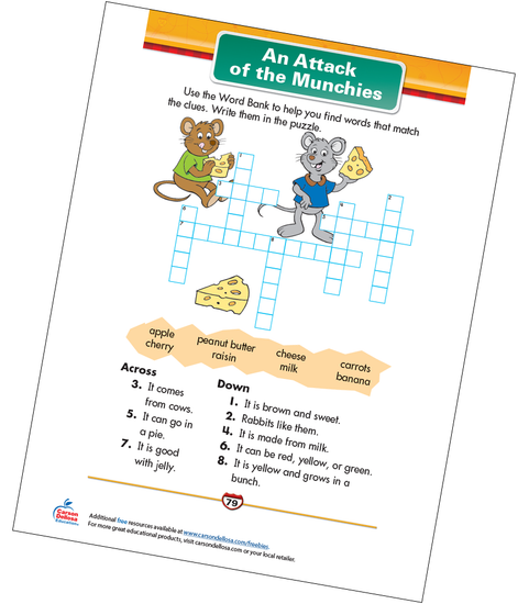 An Attack of the Munchies Free Printable Sample Image